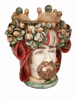 Testa di Moro uomo ceramiche Guzzardi