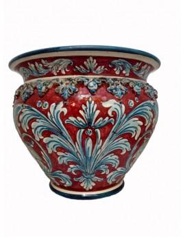 Cachepot stile 600 ceramica di caltagirone