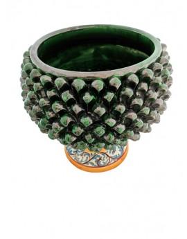 Cachepot Pigna verde ceramica di caltagirone